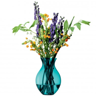 Lọ hoa Flower Colour Country Bouquet H26cm LSA(xanh peacock) - Anh