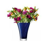 Lọ hoa Flower Colour Flared Bouquet H23cm  LSA (xanh cobalt) - Anh: