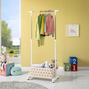 Giá treo quần áo có khay smart 3835 Living star (Đơn,Trắng)