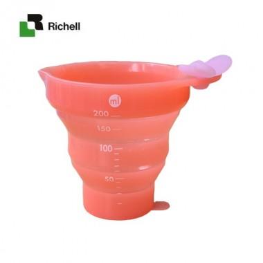 Cốc xếp có chia ml Richell (Cam)- Nhật Bản