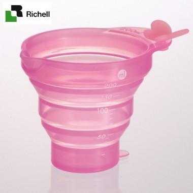 Cốc xếp có chia ml Richell (Hồng)- Nhật Bản