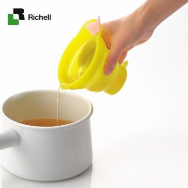 Cốc xếp có chia ml Richell (Vàng)- Nhật Bản