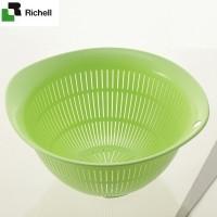 Rổ nhựa kháng khuẩn M Richell (Xanh lá) - Nhật Bản