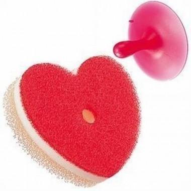 Miếng cọ vệ sinh bồn tắm poco hình trái tim Marna - Nhật Bản