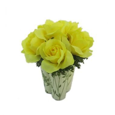 Giỏ hoa hồng vàng Pháp Antwerp Srilanka