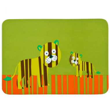 Tấm lót bàn ăn trẻ em Wildlife họa tiết hổ Laessig - Đức