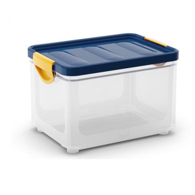 Hộp chứa đồ Clipper box M - trong/nắp xanh lá KIS - Italia