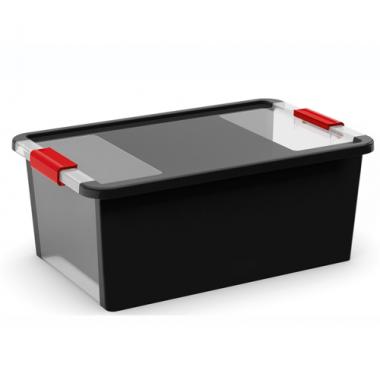 Hộp nhựa chứa đồ Bi-Box M - đen KIS - Ý