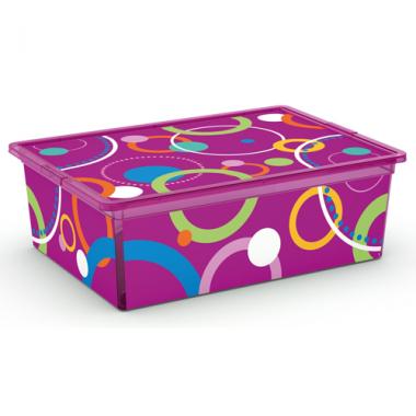 Hộp nhựa chứa đồ C-Box Style Bubbles L KIS - Ý