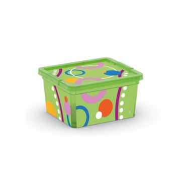 Hộp nhựa chứa đồ C-Box Style Bubbles XXS KIS - Ý