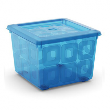 Hộp nhựa chứa đồ Square Box - ngọc lam KIS - Ý
