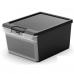 Hộp nhựa chứa đồ Twin Box M - đen KIS - Ý