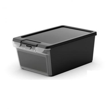 Hộp nhựa chứa đồ Twin Box XS - đen KIS - Ý