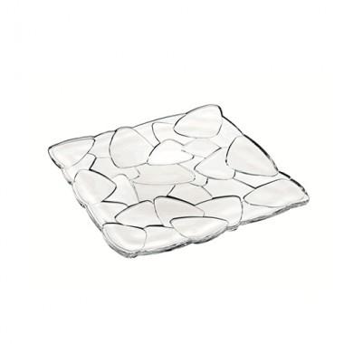 Đĩa pha lê vuông 28x28 cm 88334 Petals Nachtmann - Đức