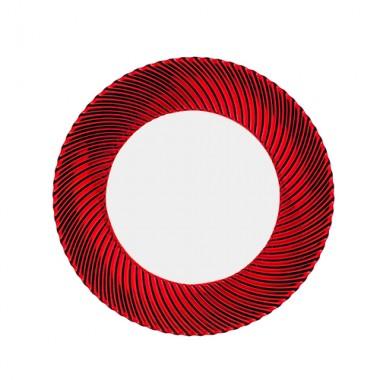 Đĩa pha lê tròn đỏ Samba 32cm Nachtmann - Đức ML-DE343