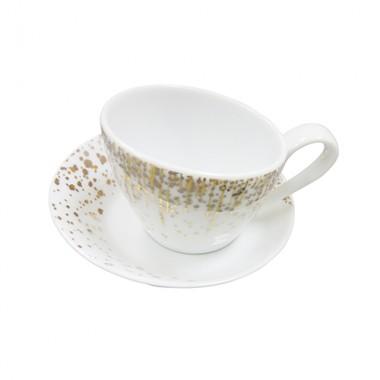 Bộ cốc và đĩa sứ uống trà Legle - Pháp ML-HO071(N)