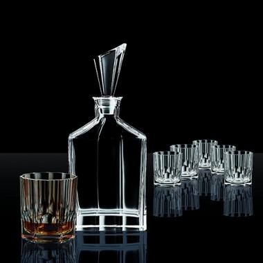 Bộ 1 bình đựng Whisky (750ml) và 6 ly pha lê ĐK 8.8 cm 90025 Aspen Nachtmann
