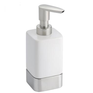 Bình đựng dầu gội, sữa tắm Gia (tall, white) Interdesign - Mỹ