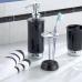 Bình đựng dầu gội, sữa tắm York (black) Interdesign - Mỹ
