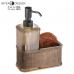 Bộ bình đựng dầu gội & mút tắm Twillio (màu Bz) Interdesign - Mỹ
