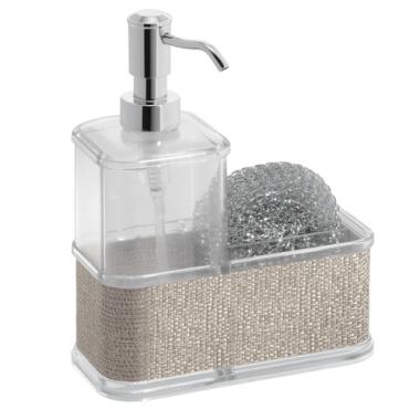 Bộ bình đựng dầu gội & mút tắm Twillio (metal) Interdesign - Mỹ