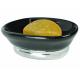 Khay đựng xà phòng York (oval, black) Interdesign - Mỹ
