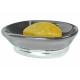 Khay đựng xà phòng York (oval, grey) Interdesign - Mỹ