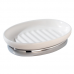 Khay đựng xà phòng York (oval, white) Interdesign - Mỹ