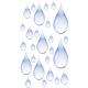 Tấm dán nhà tắm hình giọt nước 15x 23,5cm Kleine Wolke - Đức