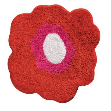 Thảm nhà tắm hình hoa 2 đỏ Poppy Interdesign - Mỹ