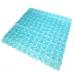 Thảm nhựa nhà tắm hình đá Pebblz (cỡ lớn, xanh lá) Interdesign - Mỹ