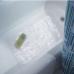 Thảm nhựa nhà tắm hình lá Leavz (trong suốt) Interdesign - Mỹ
