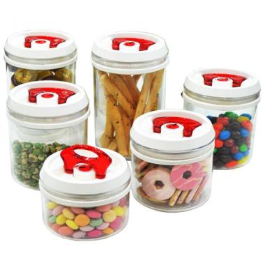 Bộ 6 hộp nhựa tròn đựng thực phẩm Folding Pioneer - Thái Lan ML-CA032(N)