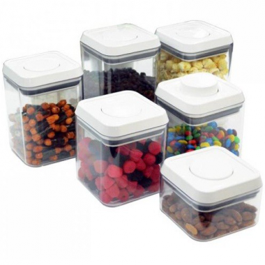 Bộ 6 hộp nhựa vuông đựng thực phẩm Pop Pioneer - Thái Lan ML-CA028(N)