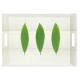 Khay nhựa hình chữ nhật họa tiết 3 lá Nuova - Ý