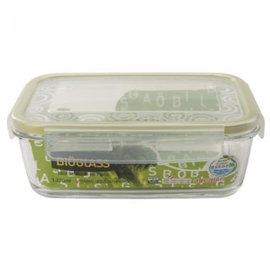 Hộp thủy tinh đựng thực phẩm 1,220ml 59976 Komax (xanh lá) - Hàn Quốc