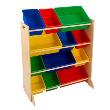 Tủ đựng đồ chơi Trẻ em 12 ngăn (màu gỗ) Honey Can Do - Mỹ