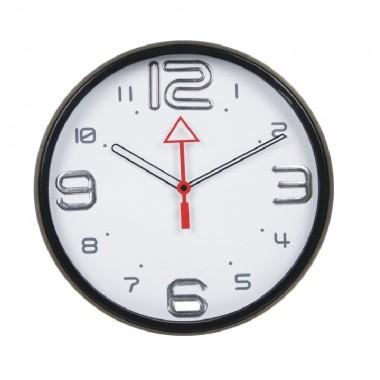 Đồng hồ treo tường điện tử nhựa viền đen Dannol Trung Quốc
