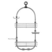 Giá để đồ nhà tắm Forma Caddy Station Interdesign - Mỹ