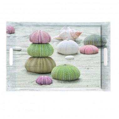 Khay nhựa hình chữ nhật họa tiết đá 3 màu Nuova - Ý