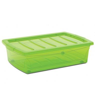 Hộp chứa đồ Spinning box M - xanh lá/trong suốt KIS