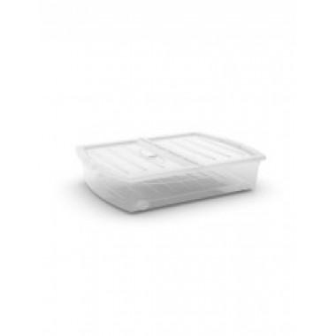 Hộp chứa đồ Spinning box XL - trắng/trong suốt KIS