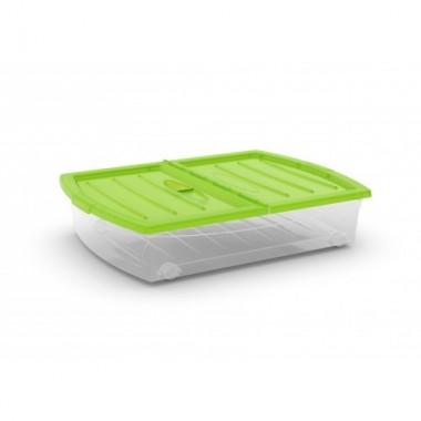 Hộp chứa đồ Spinning box XL - xanh lá/trong suốt KIS