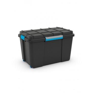 Hộp chứa đồ Scuba Box XL - đen/ khóa xanh KIS