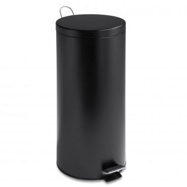 Thùng rác inox 30L (đen) tròn Honey Can Do - Mỹ