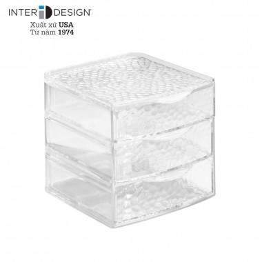 Hộp 3 tầng để đồ trang điểm Rain (cỡ lớn) Interdesign - Mỹ