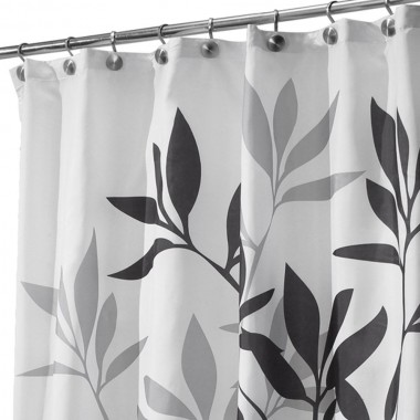 Rèm nhà tắm hình lá xám Interdesign - Mỹ