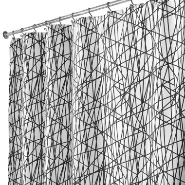 Rèm nhà tắm hình sọc 180x200cm Interdesign - Mỹ
