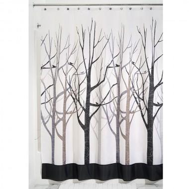 Rèm nhà tắm hình rừng 180x200cm Interdesign - Mỹ