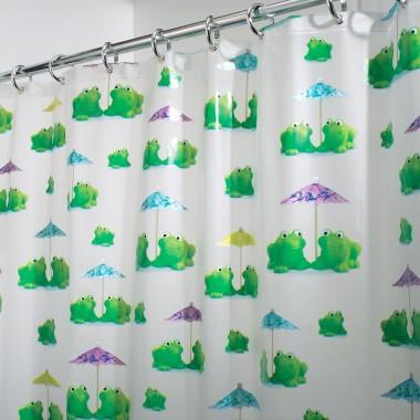 Rèm nhà tắm họa tiết hình ếch loại lớn 180 x 200 cm Interdesign - Mỹ